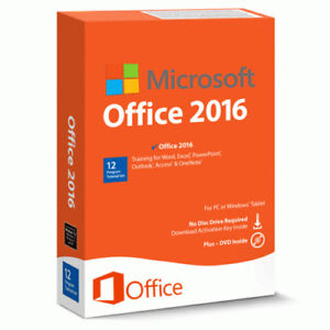Microsoft Office 2016 Professional - Product Key for 1 PC (Win)