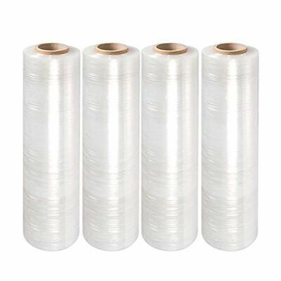 Yens 4 Rolls Clear Stretch Film Plastic Pallet Wrap 18 Wide X 1000 Ft. 80 Gauge