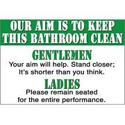 Funny Bathroom Signs