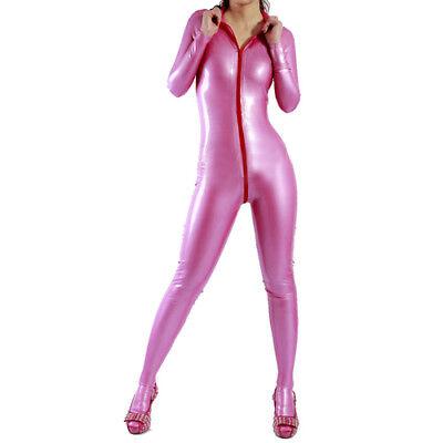 100%Latex Rubber Gummi Racing Suit Bodysuit Kostüm Ganzanzug Catsuit Leisure