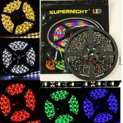 Black PCB 16.4ft/5M 60Leds/M 3528 & 5050 SMD 300LEDs LED Light Strip Waterproof