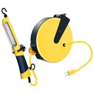 - K Tool KTI-73315 13W Fluorescent Angle Light, reel has 30' retractable cord