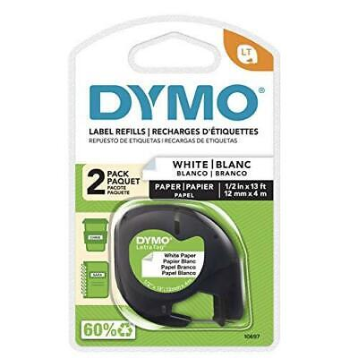 Dymo Letratag Labeling Tape For Letratag Label Makers Black Print On White