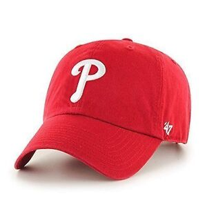 3a6ac3b3c6f40 MLB Philadelphia Phillies 47 Clean up Adjustable Hat Red One Size ...