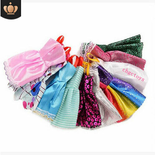 10 Pcs Dresses for Barbie Doll Fashion Party Girl Dresses Clothes Gown Toy Gift. - 6
