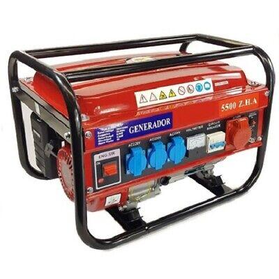 Generador eléctrico 5500W gasolina trifásico / monofásico - Envío urgente GRATIS
