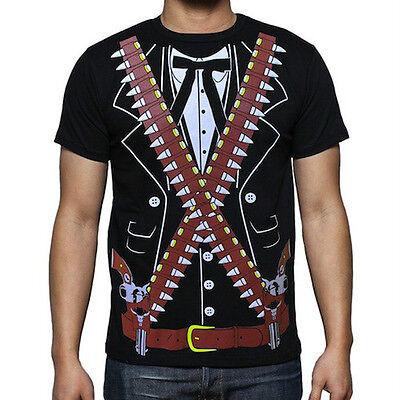 Viva Mexico - Mens Mexican Mariachi Bandido Cowboy Halloween Costume T-Shirt - Bandido Halloween Costume