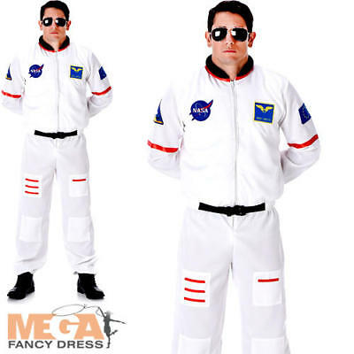 Astronaut Mens Fancy Dress Spaceman Space Uniform Adults Occupations Costume New ()