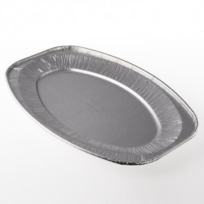 """10x 14"""", Disposable Embossed Oval Foil Platters, Buffets, Food, Catering, Trays"""