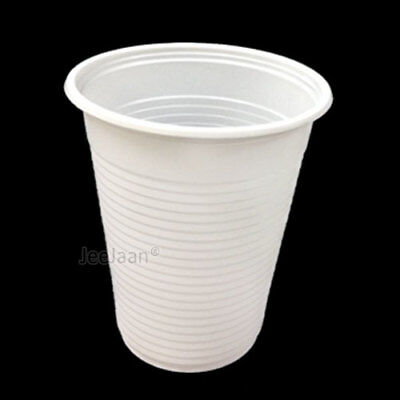 Yard Plastic Drinking Glass (1000 Plastic Disposable Cups Water 7oz White Drinking Glass Party)
