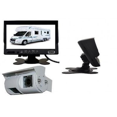 MOTORHOME TWIN CAMERA REAR VIEW REVERSING KIT WITH 7