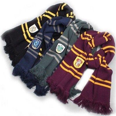 Warm Soft Harry Potter Gryffindor Slytherin Ravenclaw Hufflepuff Winter Scarf US