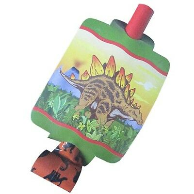 DINOSAUR Dino Times BLOWOUTS (8) ~ Birthday Party Supplies Favors Prehistoric - Prehistoric Party Supplies