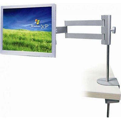 "Lcd Table Stand (BLACK Table Desk Mount Stand LCD LED Computer Monitor Bracket 13''-27"" 75 100)"