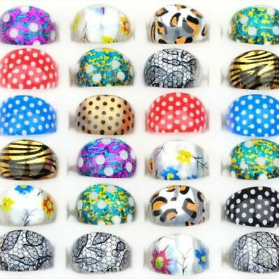 20Pcs Wholesale Mixed Cute Cartoon Ring Children/Kids Resin Lucite Rings Jewelry for sale  China