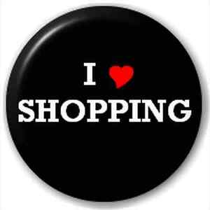 NEW-LAPEL-PIN-BUTTON-BADGE-I-HEART-LOVE-SHOPPING