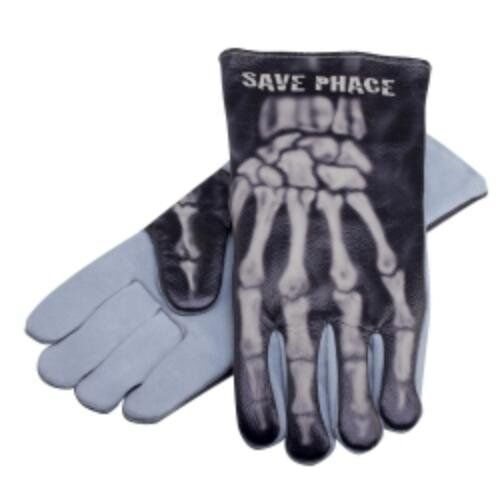 New Save Phace PPE Leather Welding Gloves Apparel Gear Bones Large L