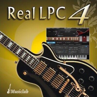New MusicLab RealLPC 4 Virtual Instrument Guitar Les Paul Mac PC VST AAX - 4 Virtual Instrument