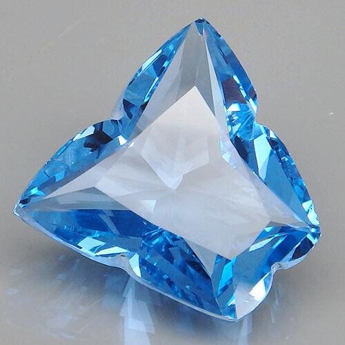 17.65CT. MAGNETIC!!! BLUE TOPAZ FANCY ~ BUTTERFLY