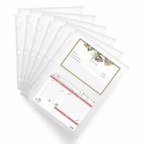 Recipe Card Protectors 4x6, Recipe Card Sleeves for Mini Binders, Recipe Book