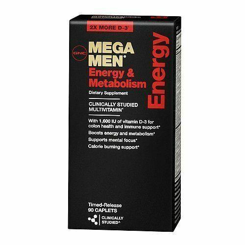 GNC Mega Men Energy & Metabolism Vitamins Dietary Supplement