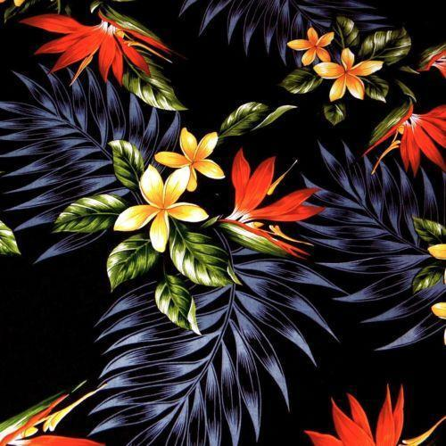 Hawaiian Cotton Fabric Ebay