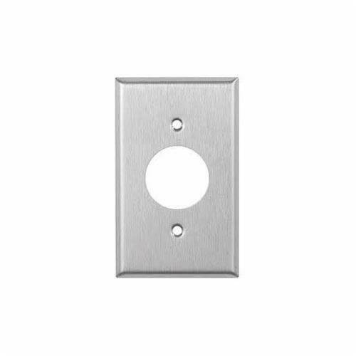 Mulberry 97091 Standard Receptacle Wallplate, 1 Gang, 4-1/2 in H x 2-3/4 in W, 4