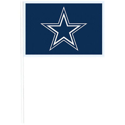NFL Dallas Cowboys PLASTIC FLAGS (12) ~ Birthday Party Supplies Favors Blue Toy](Nfl Party Favors)