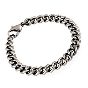 7-5-Pure-Titanium-Curb-Chain-Bracelet-Mens-Jewellery