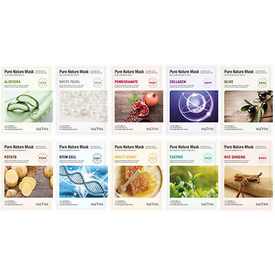 1 Ea Pack ([Secriss] Pure Nature Mask Pack 10Sheets (1ea of each types))