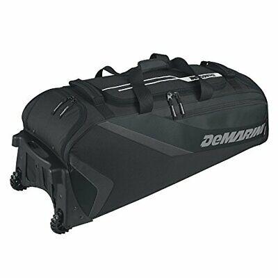 Catcher's Gear Wheeled Travel Bag w/ Padded Baseball Bat (Baseball Catchers Gear Bag)