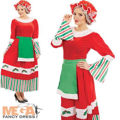 Traditional Mrs Santa Claus Ladies Fancy Dress Festive Christmas Xmas Costume