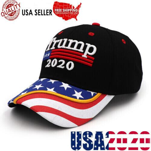 Donald Trump 2020 Winner USA Flag Baseball Cap Hat Keep Make America Great A+++