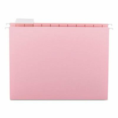 Smead Hanging File Folders 15 Tab 11 Point Letter Pink 25box Smd64066