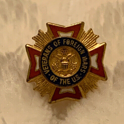 Tie Tack VFW Veterans of Foreign Wars Of The US Tie Tack Lapel Pin