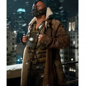 Dark Knight Rises Bane Distressed leather fur coat for sale