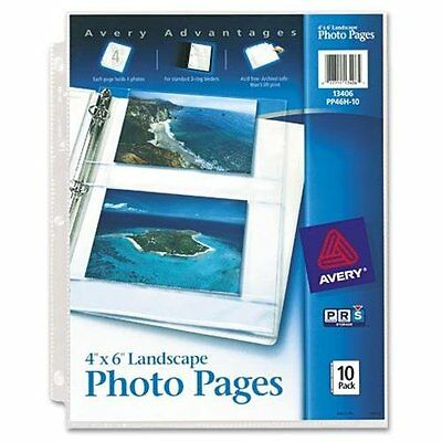 Avery Horizontal Photo Pages - 3-ring Binding - 3-hole Punched (AVE13406)