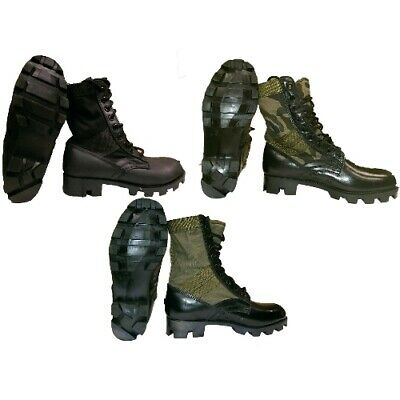 US GI Style Jungle Boot, Canvas and Leather, Panama Sole, Army Style Boot Gi Style Jungle Boots