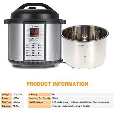 15-in-1 Programmable Pressure Ready-to-serve Cooker Slow Cook Pot 6-Quart 1000-Watt TZ
