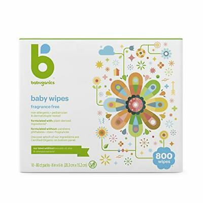 Baby Wipes Unscented 800 Count (10 Packs of 80)