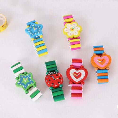 Kids Child Wood Watch Wooden Bracelet Girls Party Favours To