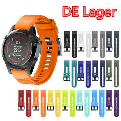 Für Garmin Fenix 5 Schnellwechsel-Ersatz Silikon Easy Fit Uhrenarmbänder