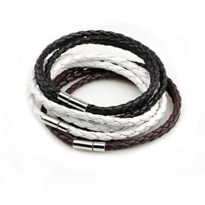 Men's Genuine Leather Multi Layer Rope Bracelet.