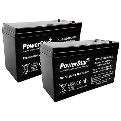 Powerstar 2x 12v 9ah Wheelchair Battery For Pride Mobilit...