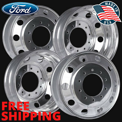 4) 40018XP 19.5X6 FORD F450 F550 WHEEL ACCURIDE POLISHED (ALCOA STYLE) 10 LUG