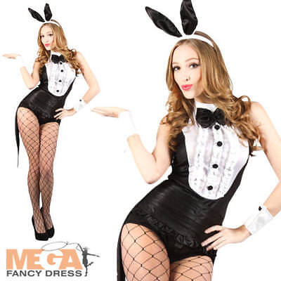 Hot Play Boy Bunny Rabbit Hostess Fancy Dress Easter Halloween Ladies Costume ()