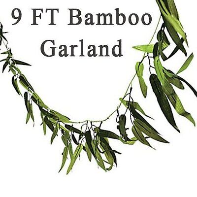 Bamboo Leaf Vine Garland 9' Luau Safari Jungle Party Birthday 9FT Long Decor](Jungle Leaf)