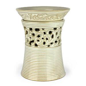Cream Vase Ceramic Electric Scented Oil Tart Candle Burner