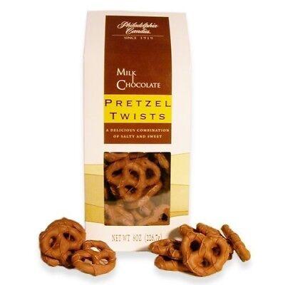 Philadelphia Candies Mini Pretzel Twists, Milk Chocolate Covered 8 Ounce Gift Chocolate Covered Pretzel Twists