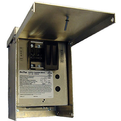 Generac 6377 - 30-amp 120240v 1-circuit Outdoor Manual Transfer Switch